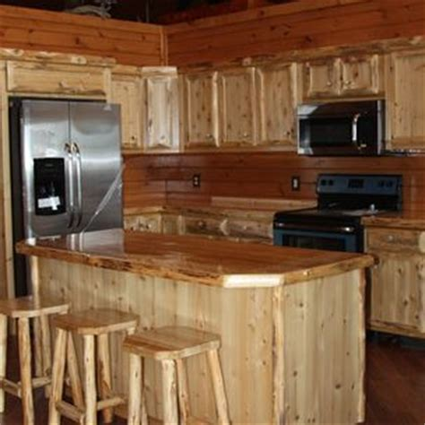 rustic cedar kitchen cabinets carl hartman king of the forest furniture drummond