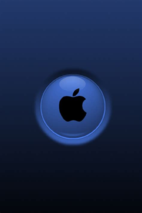 Apple Mac Brand Logo Iphone Wallpaper 4 4s 55s 5c 66s Plus Apple Blue Iphone 4 4s Wallpaper And Background