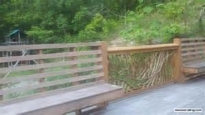 bench railing built in bench in deck railing studio design gallery