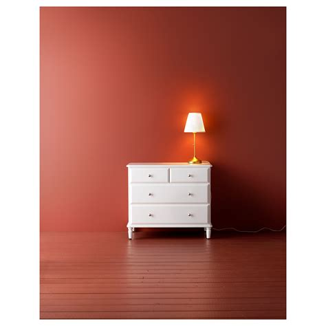 Drawers White by Tyssedal Chest Of 4 Drawers White 87x76 Cm