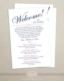 wedding welcome bag itinerary template itinerary cards for wedding hotel welcome bag printed