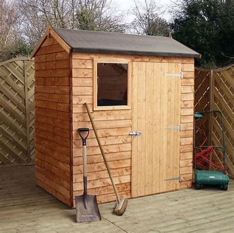 waltons reverse overlap apex wooden shed  shed