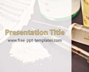 Drugs Powerpoint Template Is A White Template With Antibiotics Ppt Templates Free