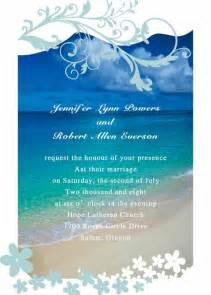 Summer beach wedding invitations as low as 0 94