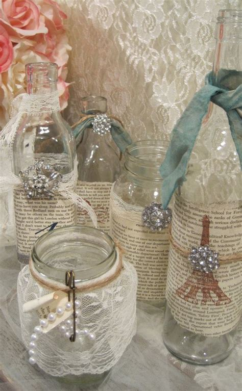 vintage shabby chic table decor repurposed finds pinterest
