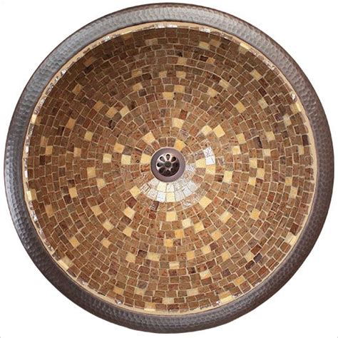mosaic bathroom sink linkasink bathroom sinks mosaic v007 large round drop