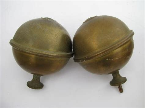 Hemispheres Home Decor by Pair Of Antique Brass Architectural Ball Finials Old