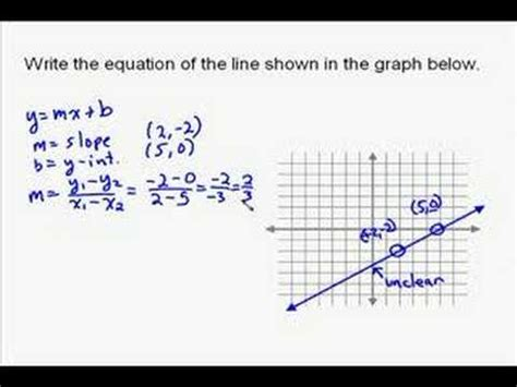 the graph of this equation will be which conic section a15 8 writing the equation of a line on a graph youtube