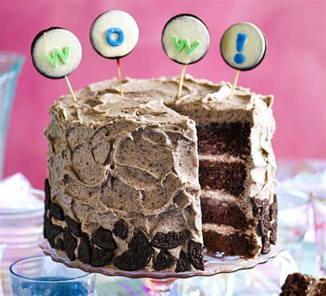 birthday cake recipe cookies cream party cake recipe bbc good food