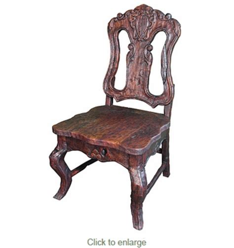 Mesquite Dining Chairs Rustic Mesquite Carved Dining Chair