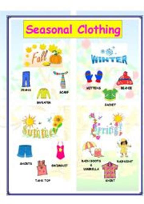 clothes for different seasons worksheet esl grammar exercises free esl worksheets english tattoo