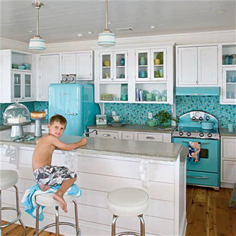 kitchens with 50s style smeg fridge decoholic