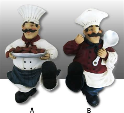 chef home decor chef kitchen wall figurine towel hanger decor complete set traditional home decor