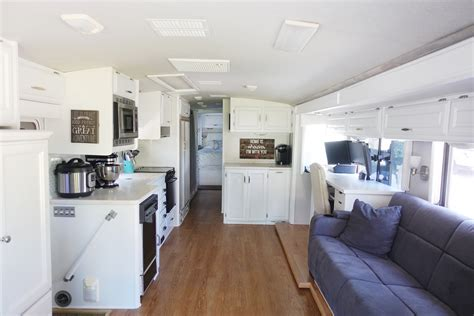 our 1st remodel class c motorhome rv remodel pottery our rv renovation hudson and emily