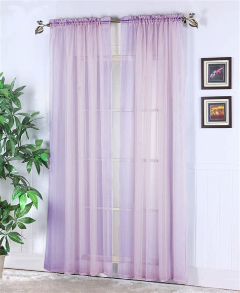 Lilac Sheer Curtains Sheer Abby Curtain Colors