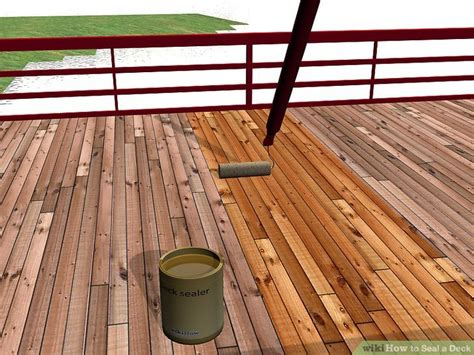 seal  deck  steps  pictures wikihow