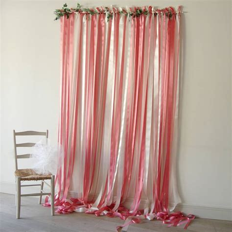 wedding dress curtains pink and cream wedding backdrop by just add a dress
