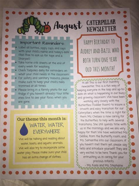 infant room preschool newsletter preschool newsletter