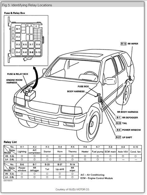 1996 isuzu rodeo stereo wiring diagram 1996 wiring
