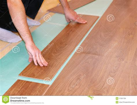 Laying Laminate Flooring Laying Laminate Flooring Royalty Free Stock Images Image
