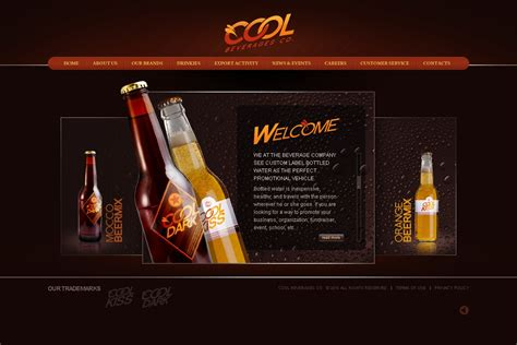 Food Drink Flash Template 27152 Energy Drink Website Templates