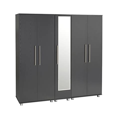 5 door wardrobe bedroom furniture bobby 5 door wardrobe mirror ideal furniture