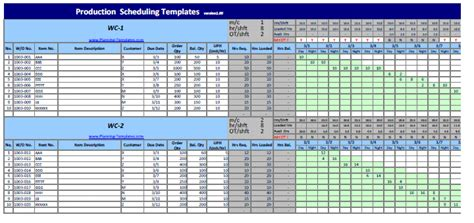Production Schedule Template Excel Schedule Template Free Production Schedule Template Excel