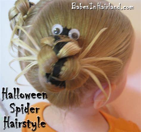 halloween hairstyles spider halloween spider hairdo babes in hairland