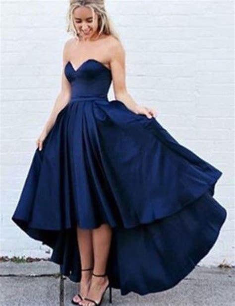 Lowback Ribbon Dress prom dresses evening dress dresses navy blue a line