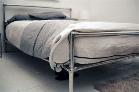 Diy Pipe Bed Frame A Statement In Your Bedroom 25 Edgy Industrial Beds Digsdigs