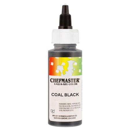 black food coloring walmart chefmaster by us cake supply 2 3 ounce coal black liqua