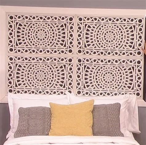 how to make your own headboard rubber mat squares and make your on pinterest