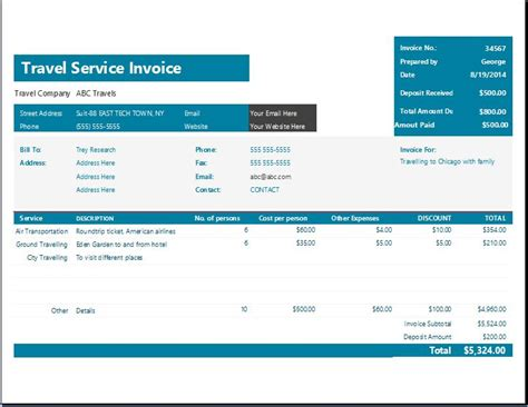 format invoice travel ms excel travel service invoice template word excel