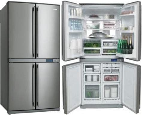 4 Door Refrigerator by Frigidaire Fqe6807sde 220 Volts 24 Cu Ft Stainless Steel