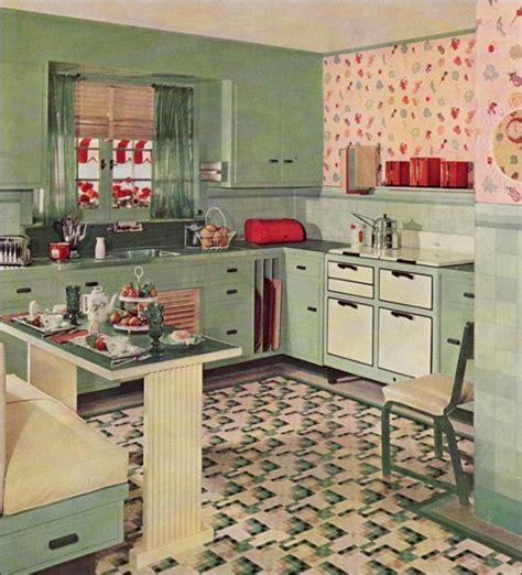 Kitchen Colors Of The 1950 S Vintage Clothing Vintage Kitchen Inspirations 1930 S