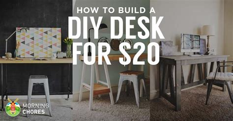 Desk Chairs For Cheap Design Ideas How To Build A Desk For 20 Bonus 5 Cheap Diy Desk Plans Ideas