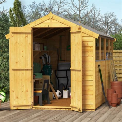 Billyoh Sheds by Billyoh 8x6 Keeper Overlap Apex Windowed Door Shed
