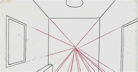 tutorial menggambar tiga dimensi cara menggambar ruangan dengan satu titik perspektif ide