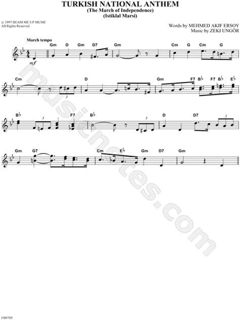 ottoman anthem zeki ungor quot turkish national anthem quot sheet music