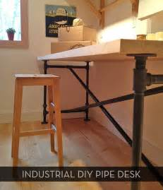 pipe desk plans awesome diy pipe table plus free downloadable plans