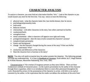 sle character analysis template 8 free documents in