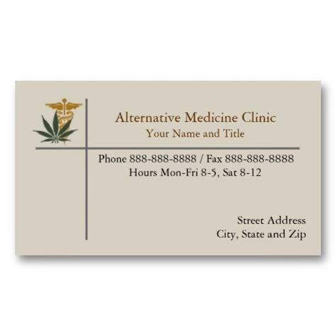 marinuana card template marijuana alternative medicine business card