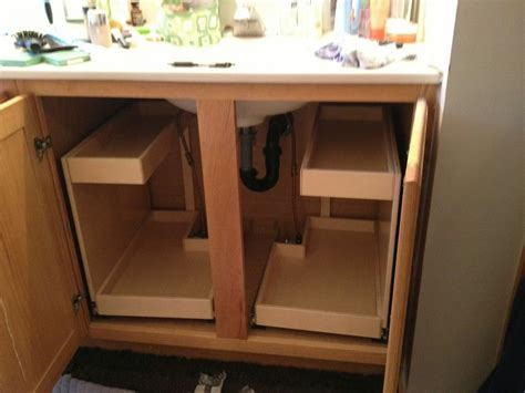 kitchen cabinet pull out drawers bathroom under sink pull