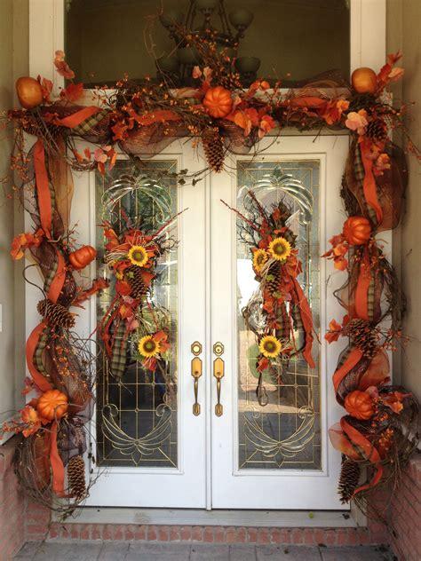 fall door decorations fall decorating pinterest