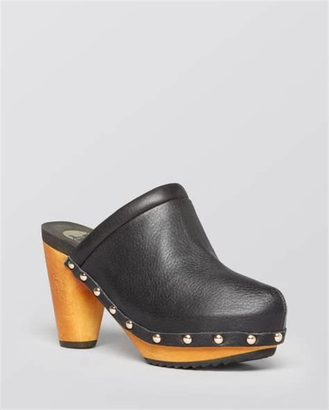 high heel clogs for flogg platform clogs franny high heel in black black