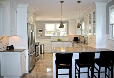 High End Kitchen Design With Restoration Hardware Benson Kitchen Peninsula Lighting