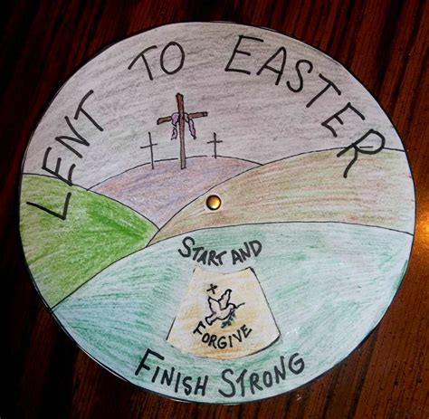 lent crafts for lent to easter wheel start and spin quot forgive quot finish