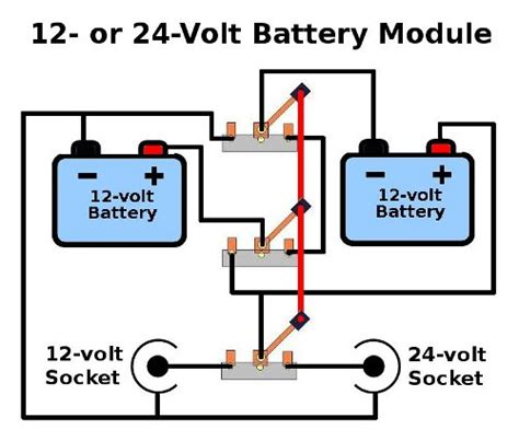 how to hook up 24 volt battery diagram 24 volt battery diagram wiring diagram and schematics