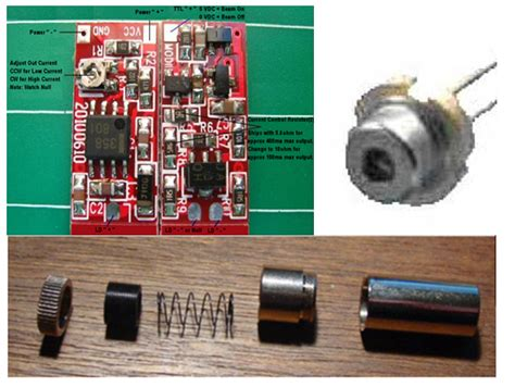laser diode and driver 650nm 200mw laser driver diode glass lens and kit aixiz