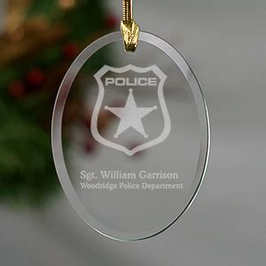 christmas present for cops personalized officer ornament giftsforyounow